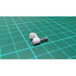 Nail in Clip, for 5*2mm Flat Cable, 15mm Nail, White