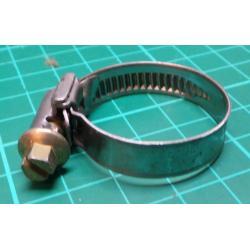 Hose Clamp, Diam 20-32mm, 9mm Width