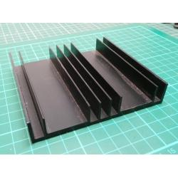 Heatsink, Black, 105x100x19mm