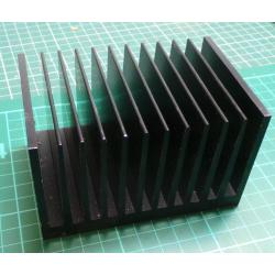 Heatsink, Black, 112x75x67mm
