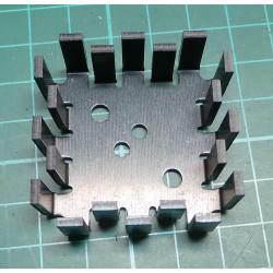 Heatsink, Anodized Aluminum, 40x40x15mm