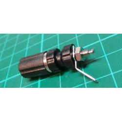 Banana Socket, 4 mm, 24A, 60VDC, black, Mounting: panel, 33 mm