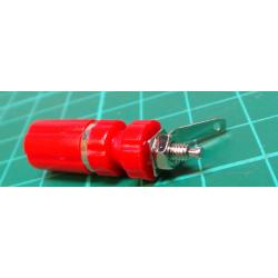Banana Socket, 4 mm, 24A, 60VDC, red, Mounting: panel, 33 mm