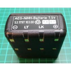 Battery, NiMH, 7.5V, For AEG Teleport Series, Untested, Poss. Used