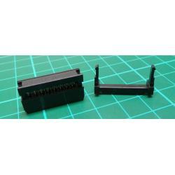 Plug, IDC, socket, PIN: 16, IDC, flat cable, 1.27 mm