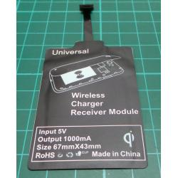 Universal QI Wireless Charger Receiver Module For Micro-USB Mobile Phone BH