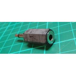 Reduction connector JACK 3,5 mono / stereo JACK 3,5 zdíř.
