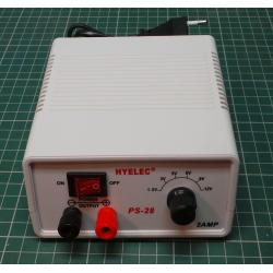 HYELEC adapter PS-28 1,5-3-5-6-9-12V / 2A switching