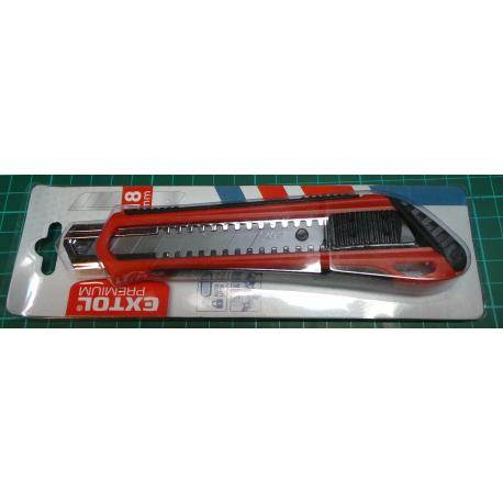 The knife cutter of 18 mm plastic with metal reinforcement Extol