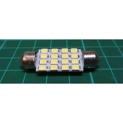 20X 39mm Dome 16 LED 3528SMD Car Festoon Interior Bulb Light Lamp 239 White 12V