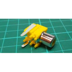 RCA socket for PCB 90deg. yellow