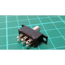 Sliding switch ON-ON 2pol.50V / 0.5A