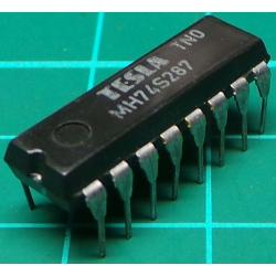 74287, MH74S287, TESLA, 1024-bit (256x4) programmable read-only memory with three-state outputs
