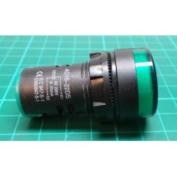 230V LED lamp 29 mm, green