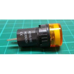12V LED lamp 19 mm, yellow
