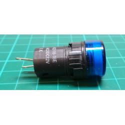 12V LED lamp 19 mm, blue