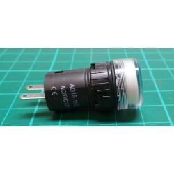 12V LED lamp 19 mm, white