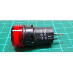 12V LED lamp 19 mm, red