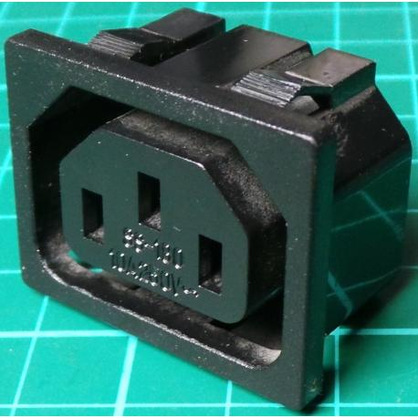 IEC Mains Outlet, Panel mounting Plug