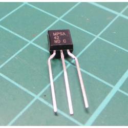 Transistor: NPN, bipolar, 300V, 500 mA, 625mW, TO92