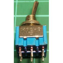 Switch DP3T (on-off-on) Toggle, 250V, 3A