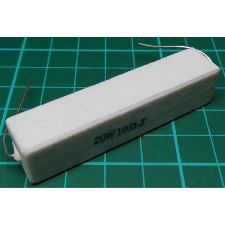 Resistor, 10R, 5%, 20W