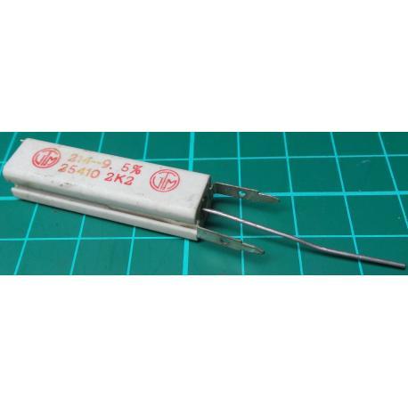 Resistor, 2K2, 5%, 5W, Old Stock