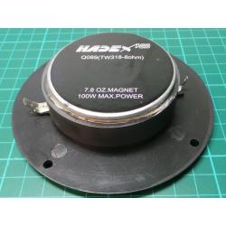 Tweeter, Speaker, 8ohm, 110mm, 25W RMS, 1.5-19Khz