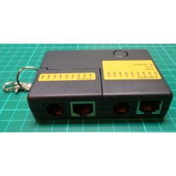 Mini Network Cable Tester, RJ11 RJ45