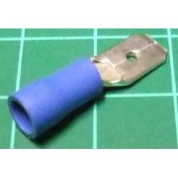 6.3mm Spade Terminal Male, Blue