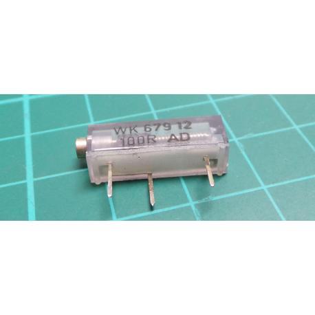 Trimpot, 16 Turn, 100R, 19x5x7mm, Old Stock