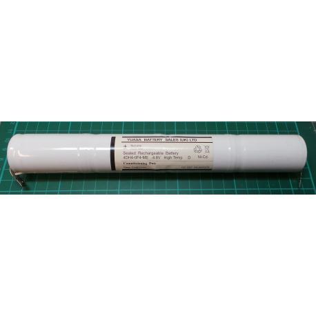 Battery, NiCd, 4.8V for Emergency Lighting, Old Stock