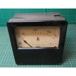 USED Vintage, Very Large Ammeter, 0-200A