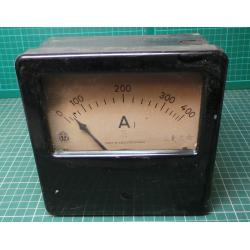 USED Vintage, Very Large Ammeter, 0-400A
