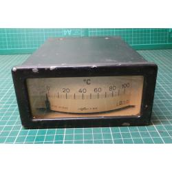 USED Vintage, Very Large Meter, 0-100 Degrees