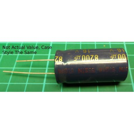 Capacitor, 8200uF, 10V, Radial, Electrolitic