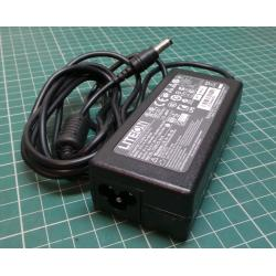 Used PSU, 19V, 3.42A, Cloverleaf Input, Barrel Output