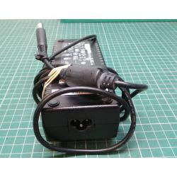 Used PSU, 19V, 7.1A, Cloverleaf Input, HP Style (Barrel with Pin) Output