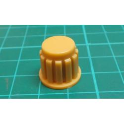 Knobs KP106, 15x16mm, shaft 6mm, ocher