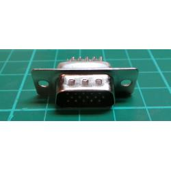 D Type, Socket, 15pin, Solder Bucket