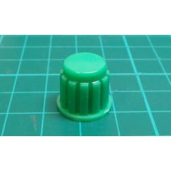 Knobs KP106, 15x16mm, shaft 6mm green