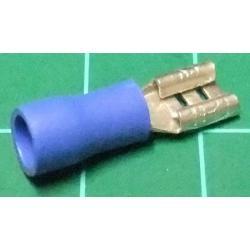 Spade Terminal, Female, 4.8mm, Blue