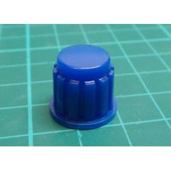 Knobs KP106, 15x16mm, shaft 6mm blue
