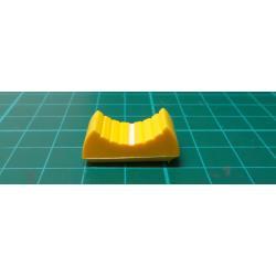Knoflík: jezdec, Barva: žlutá, 24x11x10mm, Mat: plast