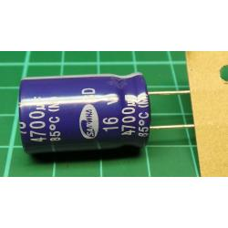 Capacitor, 4700uF, 16V, Radial, Electrolitic
