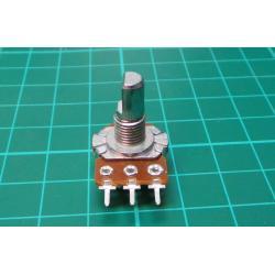 Potenciometr: axiální, jednootáčkový, 22kΩ, 125mW, ±20%, THT, 6mm