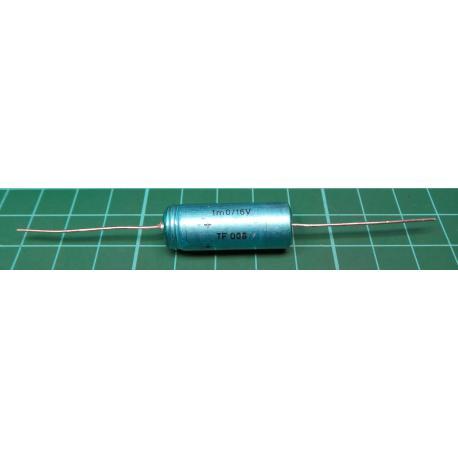 Capacitor, 1000uF, 16V, Axial, Electrolitic