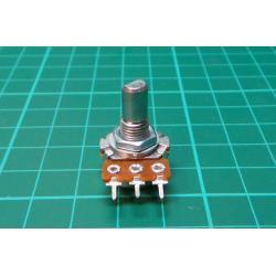 Potenciometr: axiální, jednootáčkový, 5kΩ, 125mW, ±20%, THT, 6mm