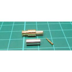 MCX, male, crimp, 3mm (RG174)