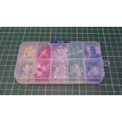 200pc 3mm 5mm Ultrabright LED Electronic Light Lamp Emitting Diode Component Kit